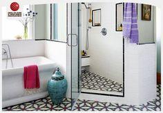 #ilhamverentasarımlar: Kemerli kapılar, desenler, aksesuarlar… Banyoda bohem bir Hindistan esintisi- tasarımcı:Karen Vidal