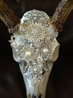 Bedazzled Deer Skull by bigfish416 on Etsy, $250.00