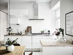 my scandinavian home: A calm Swedish space in neutrals and a beautiful wood floor