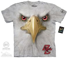 Boston College - Boston College Big Face Baldwin Adult Tee - 100% cotton short sleeve tee by The Mountain. Quality printed, preshrunk, and Made in the USA.