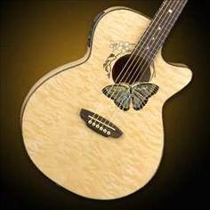 HelloMusic: Luna Guitar Fauna Butterfly A/E - Trans Natural
