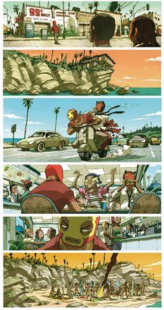En attendant la sortie imminente du tome 3 des Luchadores Five, un petit montage du tome 2...