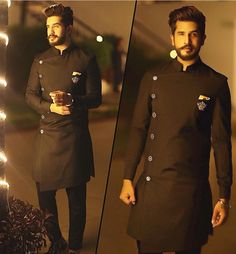 Suyyash Rai looking dapper in an outfit by Turquoise by Rachit Indian Groom Wear, Indian Suits, Indian Wear, Kurta Pajama Men, Kurta Men, Mens Sherwani, Outfit Man, Groom Outfit, Indian Men Fashion