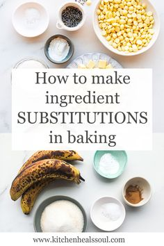 Learn which baking ingredients can be replaced with others and how Baking Hacks, Baking Tips, Baking Recipes, Dessert Recipes, Creaming Method, Baking Science, Fruit Puree, Self Rising Flour, Recipe Community
