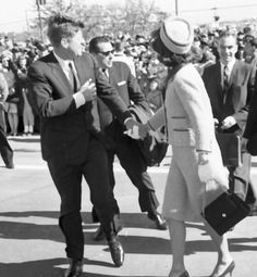 """""""He held my hand, I remember that he held my hand…""""  Jackie Kennedy November 22 1963. In a brief moment of affection upon arrival in Dallas, Jack took Jackie by the hand for a moment after greeting crowds. Jackie would later remember that moment as one of the most vivid memories of that day."""