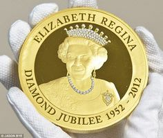 One Kilo Gold & Diamond Coin Commemorates Queen's Diamond Jubilee