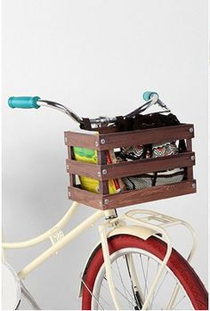 Classic Crate Wood Bike Basket from Urban Outfitters - $34.99