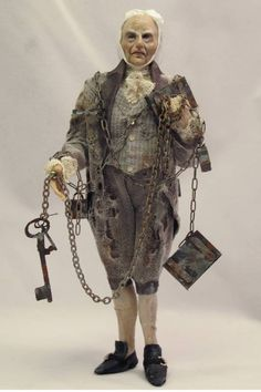 "Ghost of Jacob Marley ~ A Christmas Carol.  Great inspiration photo. Used grey cheesecloth sold as ""Creepy Cloth"" from the Halloween aisle to drape."