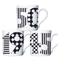 Personalised Monotone Birthday Mugs  from Personalised Gifts Shop
