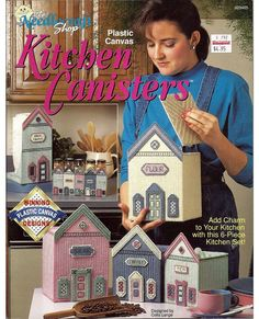 Kitchen Canisters  / Plastic Canvas Pattern by grammysyarngarden, $6.50