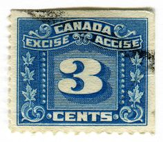 Canada Postage Stamp: Excise Accise