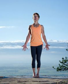 """Mountain Pose. From: """"Six Yoga Poses for Climbers"""""""