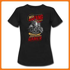 NEU Am Anfang Teamworker Gamer SW RAHMENLOS Shirt Geschenk Weihnachten Frauen T-Shirt von Spreadshirt®, XXL, Schwarz (*Partner Link)