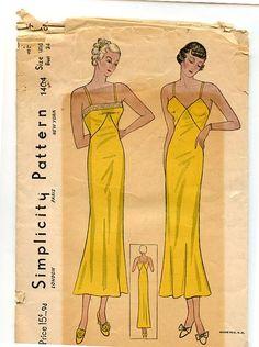 1930s Vintage Simplicity 1404 Pattern by VioletCrownEmporium
