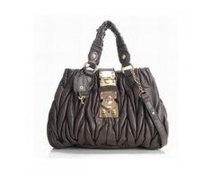 Miu Miu Totes Lambskin Matelasse Knit Mini Brown Miu Miu bags, Miu Miu handbags, Miu Miu outlet