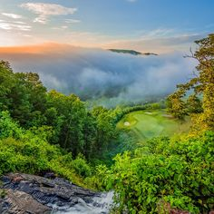 All I can say is WOW! The Waterfall Club, in Clayton, Georgia, is our #GolfCourseOfTheDay! | Rock Bottom Golf #RockBottomGolf
