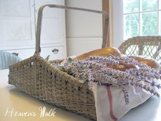 Makeover your old wicker with a great French vintage look.