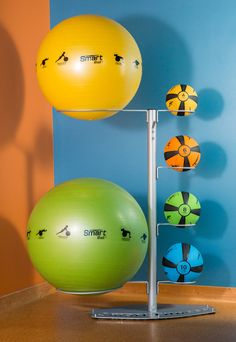 Prism Fitness Inc.'s SMART Economy Ball Rack is a convenient all-in-one Medicine ball and stability ball rack for easy access and storage.