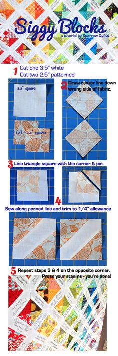 """Tutorial for the """"Siggy"""" block. Great for wedding guest signatures instead of a book. Quilting Tips, Quilting Tutorials, Machine Quilting, Quilting Projects, Quilting Designs, Quilt Guest Books, Book Quilt, Quilt Block Patterns, Quilt Blocks"""