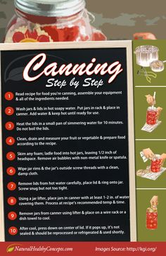 Canning Step by Step | How to Guide to Canning #survivallife www.survivallife.com