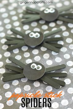 Popsicle Stick Spiders   Easy Halloween Kids Crafts