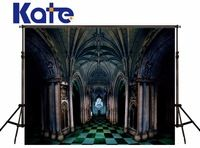 Kate Digital Toile De Fond Studio Photo Black And White Floor Church Building For Wedding Background Photography