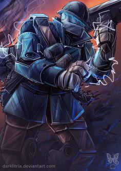 TF2: Robot Soldier by DarkLitria.deviantart.com