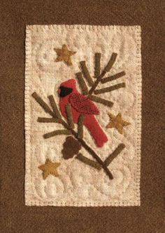 Cardinal In The Pines ~ pattern available.