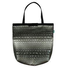 lukola handmade // Duża torba pikowana w koła // Quilted wheels big bag