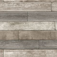"""WallPops! Nu 18' x 20.5"""" Reclaimed Wood Plank Natural Peel and Stick Wallpaper"""