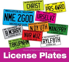 Book of Mormon Scripture Mastery License plates