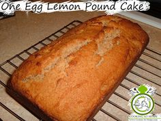 One Egg Lemon Pound Cake7:23 AM Posted by Sandy BarretteNoCommentsOne Egg Lemon Pound Cake