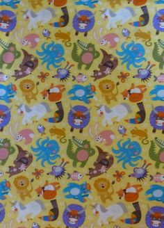 Cotton Fabric, Quilt Fabric, Home Decor,ABC Menagerie by Abi Hall for Moda, Cute Funny Animals for Children Fabric, Fast Shipping