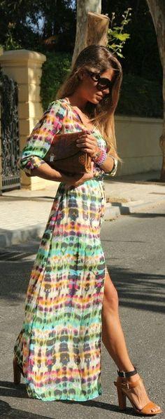 Fashion  Style Summer Long Dress  Prada Shades