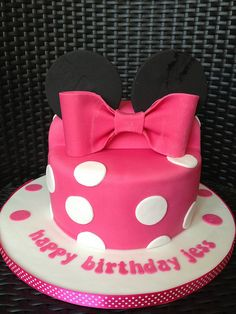 i want to get this on my birthday - Minnie Mouse Birthday Cake