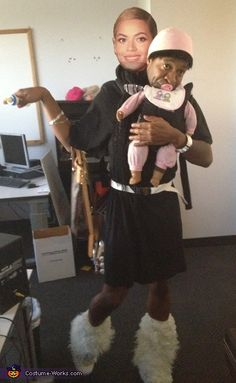 Beyonce with Baby Blue Ivy - 2012 Halloween Costume Contest
