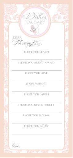 Pink Damask Baby Shower Invitation
