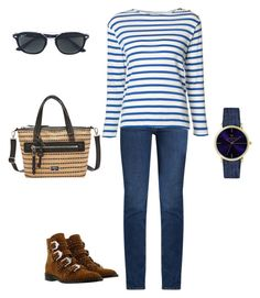 """""""Casual"""" by disfan ❤ liked on Polyvore featuring M.i.h Jeans, Yves Saint Laurent, Laruze, FOSSIL, Ray-Ban and Givenchy"""
