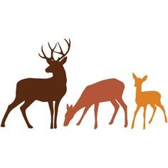 I think I'm in love with this design from the Silhouette Design Store! I think I'm in love with this design from the Silhouette Design Store! Hirsch Silhouette, Animal Silhouette, Silhouette Design, Deer Art, Moose Art, Silhouettes, Deer Family, Stencil Patterns, Silhouette Cameo Projects