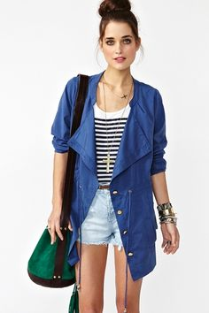Anorak adds a edge to a casual ensemble!