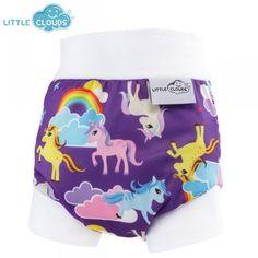 Little Clouds - Überhose (Schlupfüberhose) - Rainbow Pony #die-besten-stoffwindeln.de