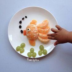 Food Art For Kids, Fun Snacks For Kids, Food Kids, Toddler Meals, Kids Meals, Kreative Snacks, Fruits Decoration, Fruit Animals, Creative Food Art