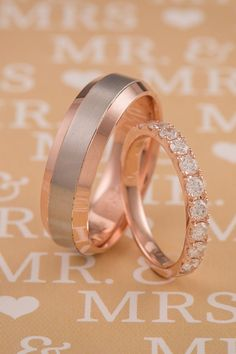 Find the perfect rose gold wedding band for your happily ever at #ShaneCo.