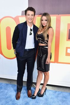 Miles Teller and Keleigh Sperry. See what all the stars wore to the MTV Movie Awards.