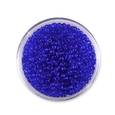 rocaille Ø 2,3mm (10/0) transparente bleu roi