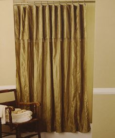 Sophisticated Fabric Shower Curtains Or Window Panels