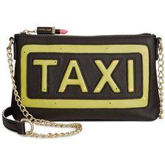 Betsey Johnson Light Up Taxi Crossbody (3,855 INR) ❤ liked on Polyvore featuring bags, handbags, shoulder bags, black, crossbody handbags, black crossbody, cross body, betsey johnson purse and black cross body handbags
