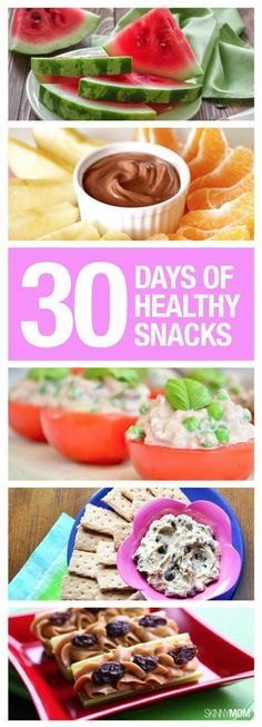 Slim Down With 30 Days of Healthy Snacks - An entire month of snacks for the on-the-go mom! #healthy #snacks