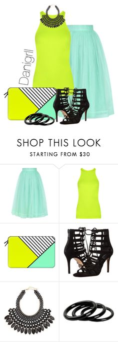 """Neon"" by danigrll ❤ liked on Polyvore featuring Chicwish, Theory+, Casetify, Michael Kors, H&M and Furla"