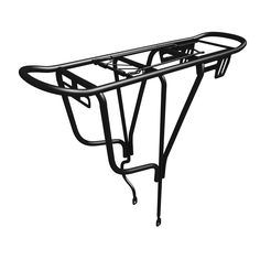 Amazon.com : Sportly Iron Cargo Heavy Duty Bike Carrier Rack - Durable yet Lightweight Bicycle Rack Secures Packs, Panniers and Trunk Bags, Rear Mount Assembly, Supports Up to 110 lbs. Won't Twist or Warp : Sports & Outdoors